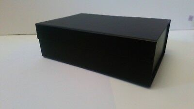 Luxurious black magnetic closure gift box for all occasions 22cm x 15cm x 7cm