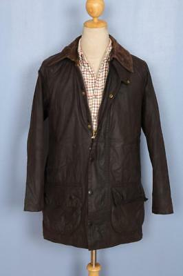 Mens BARBOUR Beaufort WAXED Jacket Brown Size 38 Medium