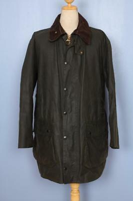 BARBOUR Northumbria WAX Jacket Green Size 42 Large