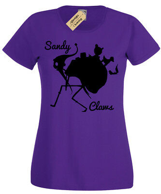 Sandy Claws T-Shirt Womens skellington nightmare ladies jack inspired christmas
