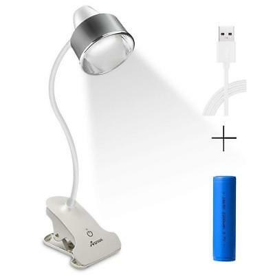 Anpress 6W Dimmable Clamp on Desk Light Flexible Clip on Light Music Stand Light