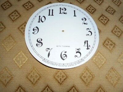 For American Clocks  - Round Seth Thomas Paper Clock Dial -124mm M/T- Arabic
