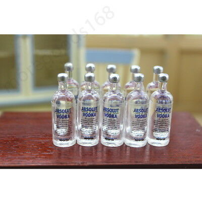 Mini 2pcs Vodka Bottle 1:12 Dollhouse Miniature Accessory Toy For Children Gift
