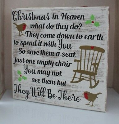 christmas in heaven what do they do christmas remembrance block xmas decor