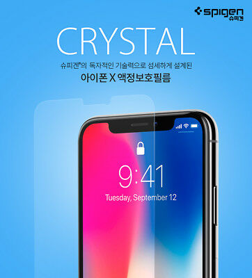 Spigen Ultra Crystal HD Clear Pet Film 3Pack For iPhone XS X Screen Protector