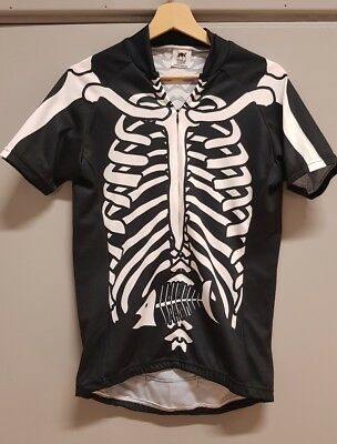 c15c84202 RARE FOSKA SKELETON and Fish Cycle Jersey Top Medium - £12.95 ...