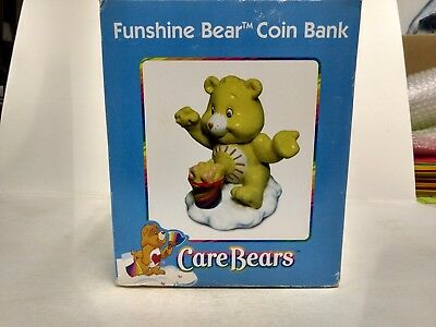 Funshine Bear Care Bears Ceramic Coin Bank Tri-Star 2003 t1606