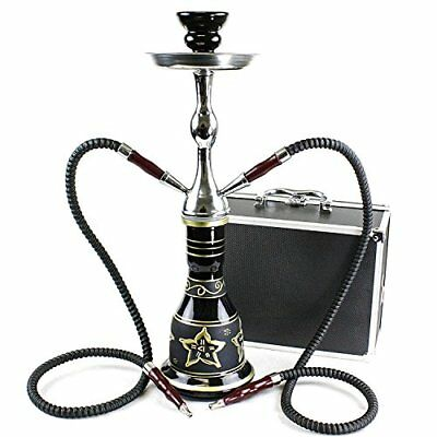 """GSTAR Convertible Series: 18"""" 1 or 2 Hose Hookah Complete Set w/ Case - Majes..."""