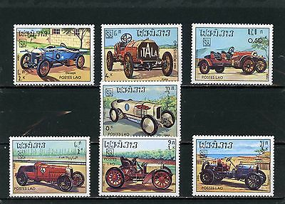LAOS 1984 Sc#561-567 CLASSIC SPORT CARS SET OF 7 STAMPS MNH