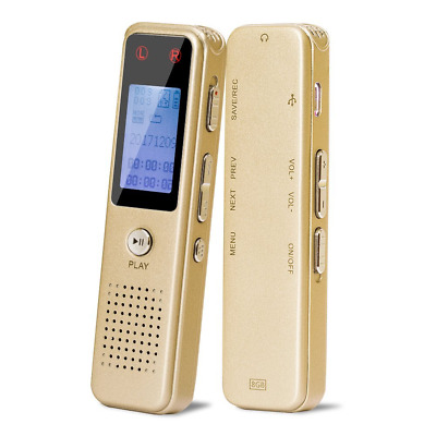 Digital Voice Recorder, Rechargeable Battery, Voice Activated, Double Microphone