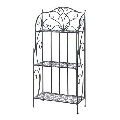 3 Tier Metal/Iron Baker's Shelf Rack Plant Stand Shelves