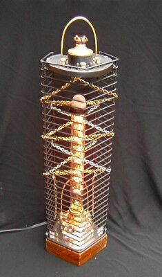 Lamp Sculpture, Industrial, Steampunk, Machine Age, Upcycled, Art Sculpture