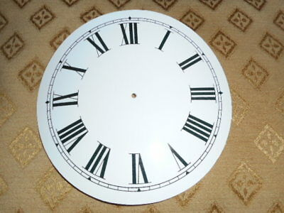 "Round Paper Clock Dial - 5 1/4"" M/T - Roman-High Gloss White - Face /Clock Parts"