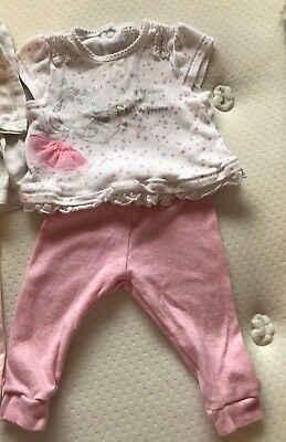Baby Girl Top & Leggings/ Outfit/ Clothes.  Pink/ Fairy/ Stars. 0 - 3 Months