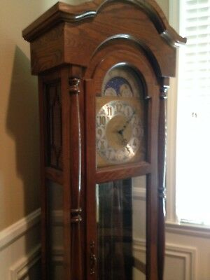 Vintage Grandfather Clock, Oak,&oncerto Clock Co.