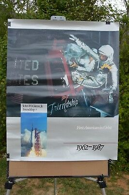 Friendship 7 John Glenn Jr  1962-1987 First American in Orbit Poster Mercury 6