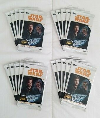 20 NEW Packs Topps STAR WARS Disney SOLO Movie Trading Cards LOT