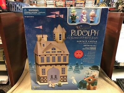 SANTA'S CASTLE PLAY AND DISPLAY SET BY PLAYING MANTIS GOOD CONDITION Ships Free!