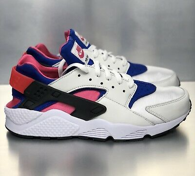 best service a2822 63f3e NIKE AIR HUARACHE Run '91 QS OG White Royal Pink Shoes [AH8049 100] Mens  Size