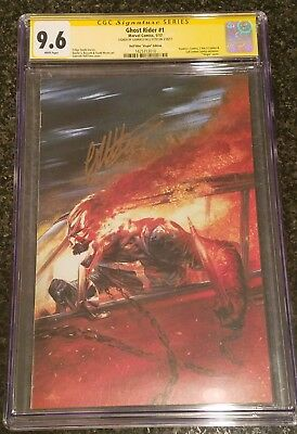 GHOST RIDER # 1  Virgin Variant CGC SS 9.6 Signed by Gabriele Dell'Otto Rare