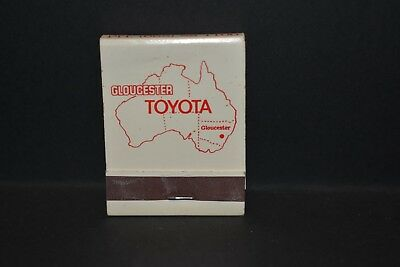 Vintage Rare Collectable Gloucester Toyota Match Book