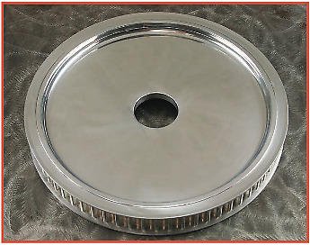 """Smooth Blank Raw Rear Pulley 65T 1-3/8"""" Belt Width Undrilled For Harley & Custom"""