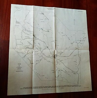 1956 USGS Map Physiographic Mineral Areas Roads Trail Settlemts Hidalgo Mexico