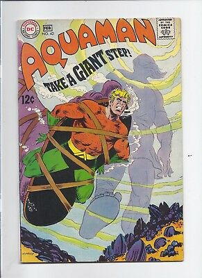Aquaman #43 - Nice Vf+ 8.5 - Looks Unread - 1969 - 50% Off Opg + Free Ship !