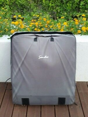 Saunders Chiropractic Lumbar Traction Device and Bag with wheels + Carrying case