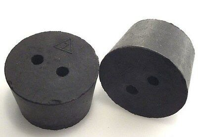 #6-1/2 Black Rubber Laboratory Stoppers 4/pack Size 6.5 1-HOLE STOPPER RS-6.5H