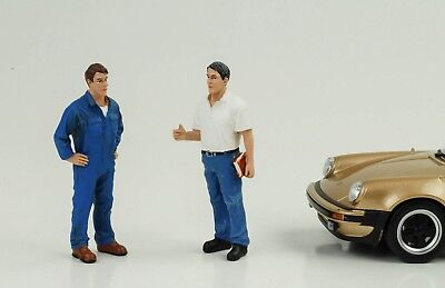 Mechanic Master Service Chef Set 2 Figures Figure 1:24 American Diorama No Car