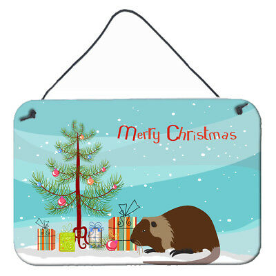 Coypu Nutria River Rat Christmas Wall or Door Hanging Prints