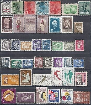 Selection of Used Stamps from Romania 195 Stamps in Total Going Cheap