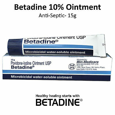 Betadine Povidone-Iodine 10% First Aid Antiseptic Ointment Wound Burn - 15g