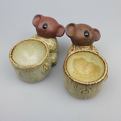 Vintage Pair Of Gempo Koala Egg Cups
