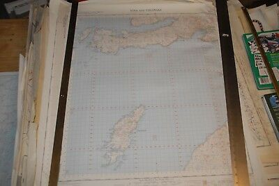 Lovely vintage poster map IONA & COLONSAY Ross of Mull, Oronsay sh.51