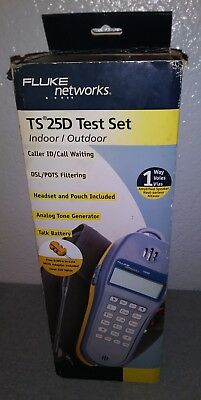 Fluke Networks TS25D Phone Test Set with Pouch, 6 Wire Adapter