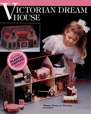 Plastic Canvas PATTERN . Doll's House PATTERN . Victorian Dream House . Copy