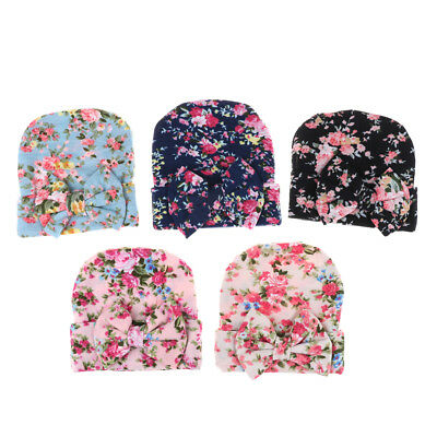 Baby New Girl Flower Infant Toddler Bowknot Beanie Hat Hospital Cap Comfy EB