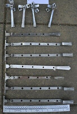 11 art deco window handles / levers / rests / openers / latch cast iron. L780.