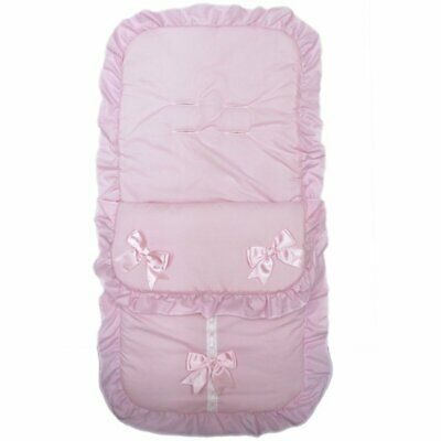 Baby Buggy Pushchair Broderie Anglaise Footmuff Romany Cosy Toes Universal 2 col