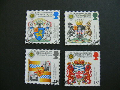GB Stamps. 300th Anniversary Revival of Order of The Thistle. Set of 4. 1987