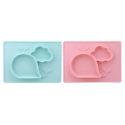 Silicone Happy Mat Baby Kids Suction Table Food Tray Placemat Plate Bowl LH