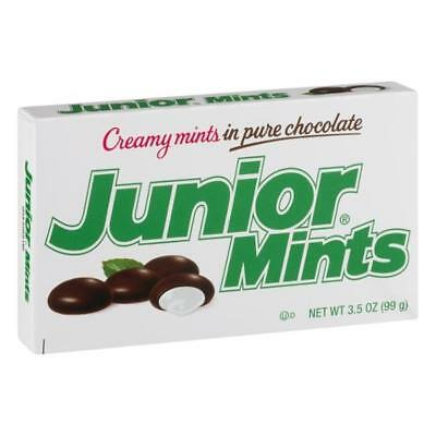 2 Boxes USA Threatre Box Junior Mints Chocolate Candy 99 gram each