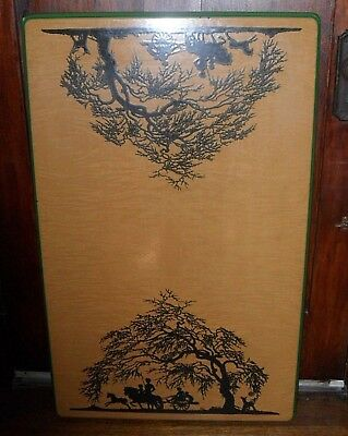 """Vintage UGO MOCHI Art 3Pc 39"""" TABLE Top & 2 BENCH Seat Tops Stainless Steel"""