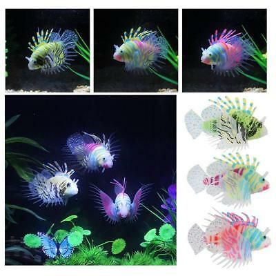 Simulation Luminous Silicone Lionfish Aquarium Supplies Fish Tank Decoration