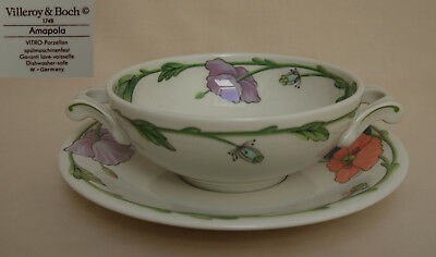 """Villeroy & Boch """"Amapola"""" SOUP COUP AND SAUCER"""