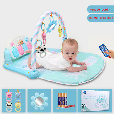 Baby Gym Play Mat Lay & Play 3 in 1 Music lullaby And Lights Fun Piano Kid Gift