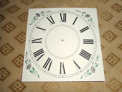 "Mantle / Shelf Paper Clock Dial - 5"" M/T-Roman-Floral Corner Designs-Clock Parts"