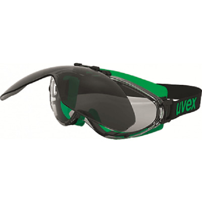 uvex SAFETY WELDING GOGGLE Shade-5 Lens, Black/Green Frame,Infradur Plus Coating